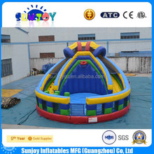 Giant Inflatable Slide Double Lane Slip with Obstacle Course Inflatable Bouncer