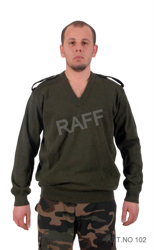 Army Green Sweater With Epaulette