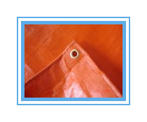 160gsm uv protection orange pe Tarpaulin in bales or rolls