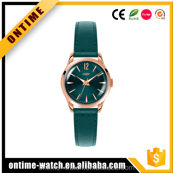 Fashion leather lady watches customized your own logo china supplier