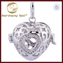 harmony ball heart rhodiumn harmony ball cage 18mm to pur 16mm ball