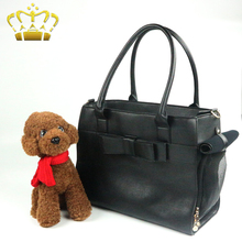 Fashion Bowknot Pattern Tote Handbag Pet Carrier Bag