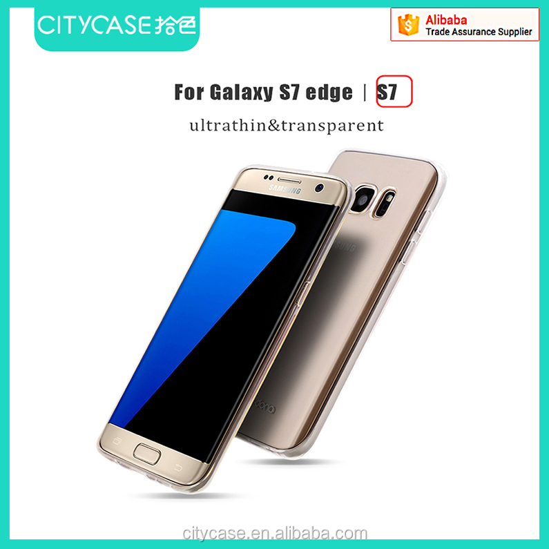 city&case mobile phone case transparent for samsung galaxy s7 edge