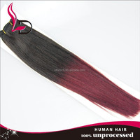 100% brazilian virgin hair Burgundy brazilian hair ombre red wine hair color