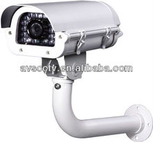 50m IR Digital Color CCD Video Waterproof Camera For Car Number Plate Recognition