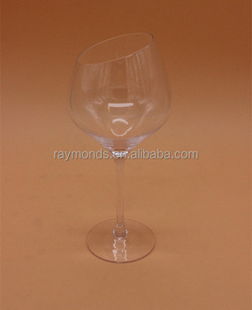 Oblique Mouth Drinking Glass