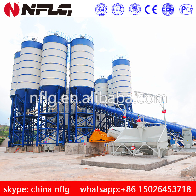 HZS60 precast concrete plant with high quality is on hot sale