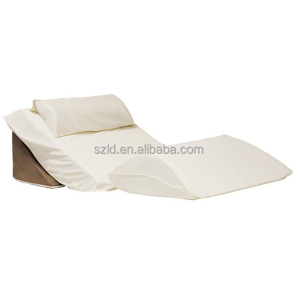 Memory Foam Back Support Bed Wedge Pillow Anti Reflux Bed