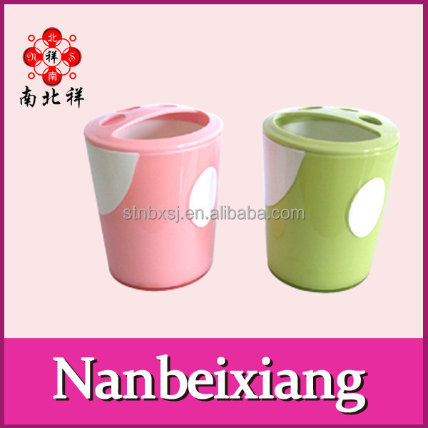 2 In 1 Bathroom Plastic Toothbrush Holder Cup