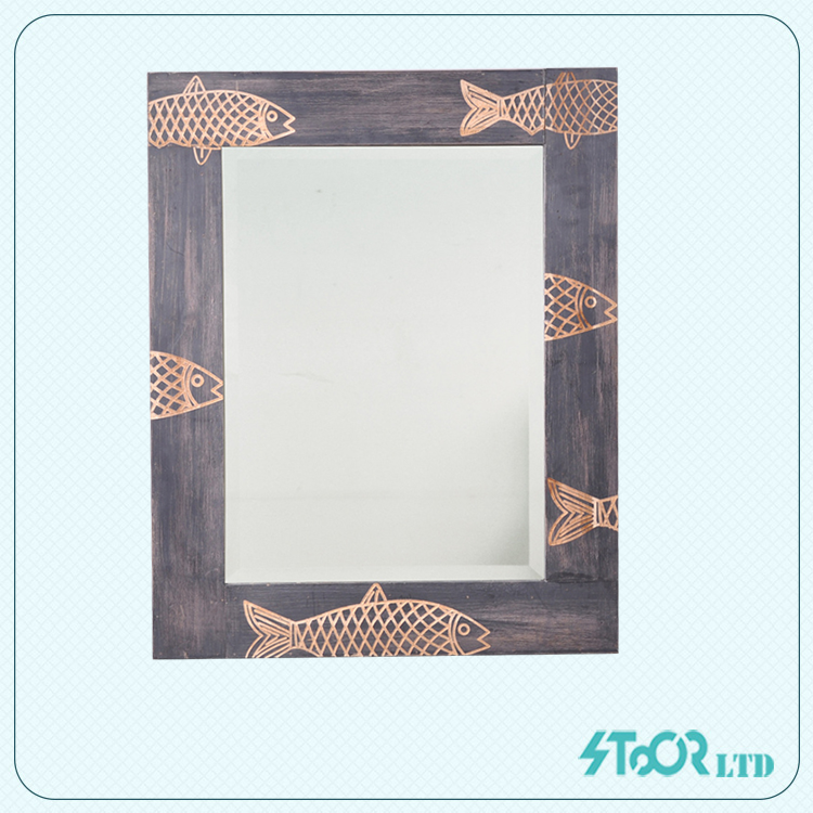French large carve wood mirror , plain wood wall mirror frame