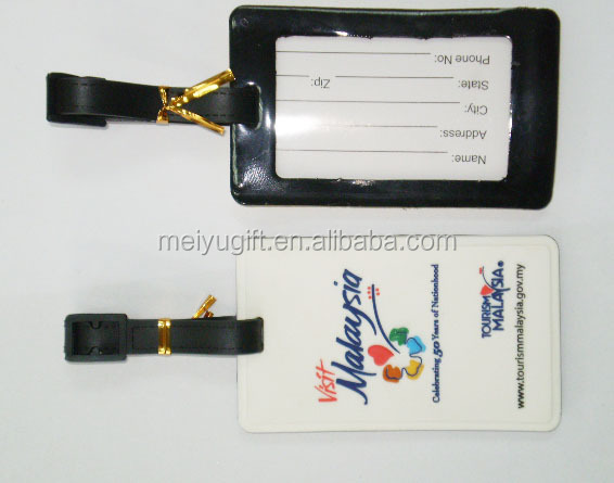 travel agency dedicated leather luggage tag with logo