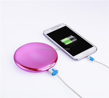 it new 4000mah portable Round mirror power bank rtable phone charger