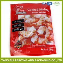 stand up plastic food packaging bag for seafood