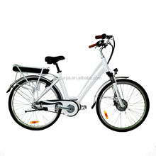 "2017 26""/700c/28"" 250w 350w front drive motor woman electric city bike/new model electric bicycle with chainless"