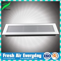Aluminum return and supply rectangular anodized floor air grill