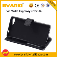New Ideas 2016 Conference Phone Genuine Leather Phone Case For Wiko Highway Star 4G Stand Case Newly Developed Products