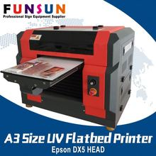 Funsunjet A3 Size DX5 Head flora digital printing machine UV printer