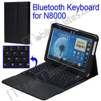 Folio Flip Stand Leather Case with Bluetooth Keyboard for Samsung Galaxy Note 10.1 N8000