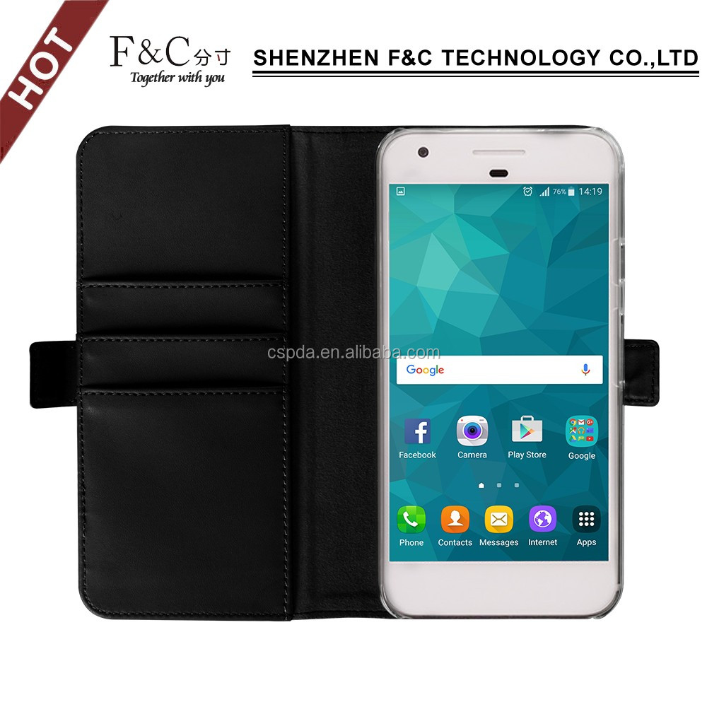 Luxury italian leather mobile phone folio case for google pixel xl 5.5inch
