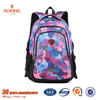 New style high class student girls top quality name brand new design school bag/.