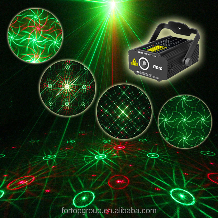 New 5V SUNY Sound Activated Mini Laser Light P313 Projector Red Green RG Stage Lighting for DJ Disco Party Club Xmas