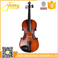 Tongling Brand Maple Flamed Matt Violin Korean Popular Student 4/4 Violin TL002-3A