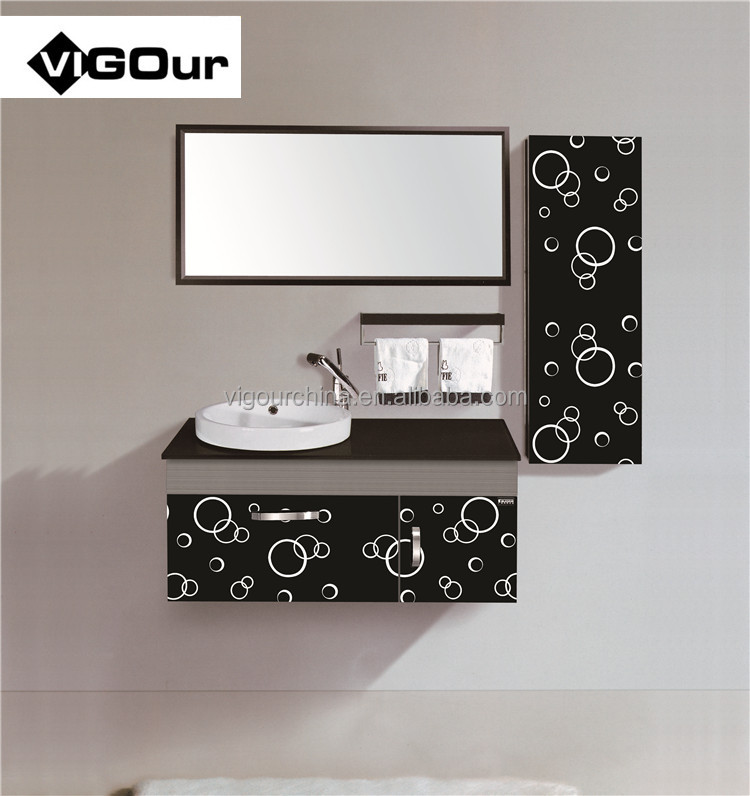 Made In China Stainless Steel Bathroom Vanity Cabinet 8164