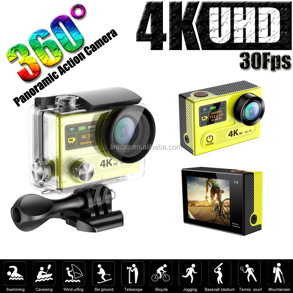 H8R Real 4K 30fps mini camera Wifi Action Camera 2.4G Remote Controller Camcorder 360 degree Action Camera Sport DV