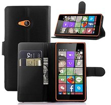 Cell Phone Cases Manufacturer PU Leather Flip Cover with Folding Stand / ID holder / Credit Card Slots For Nokia Lumia 540