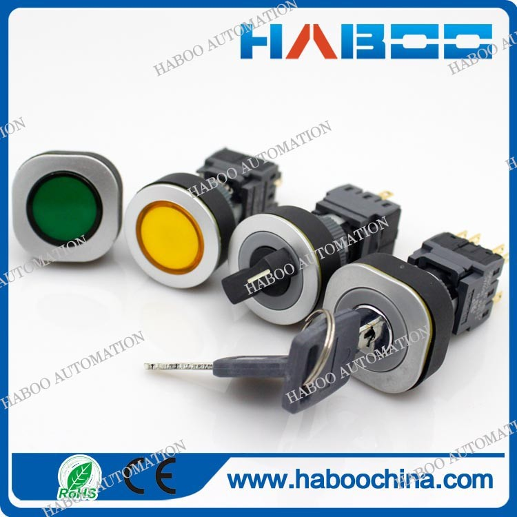 16mm or 22mm electrical switch with led momentary or on off push button switch