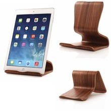 wood countertop tablet PC/mobile phone display stand base, flat base stand