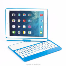 Customized Waterproof Fancy Tablet Cases with Keyboards Fexible 360 Rotate for iPad Air 2017