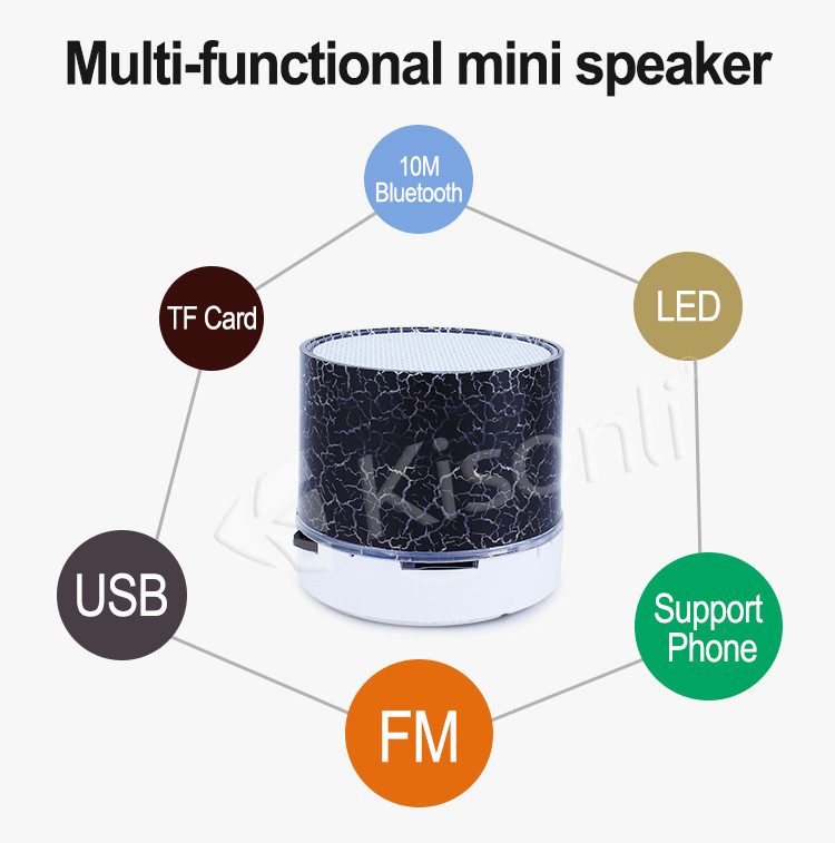 Custom Promotion led bluetooth speaker Gift,Promotion product ,led speaker for Promotion Item