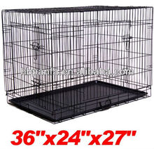 "36"" Folding Dog Crate Cage Kennel/Mesh: 1.5 x 4.5"" inch"