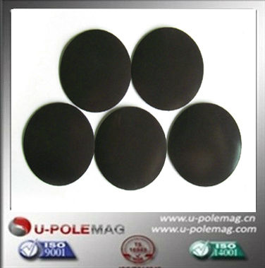 round rubber magnet with adhesive