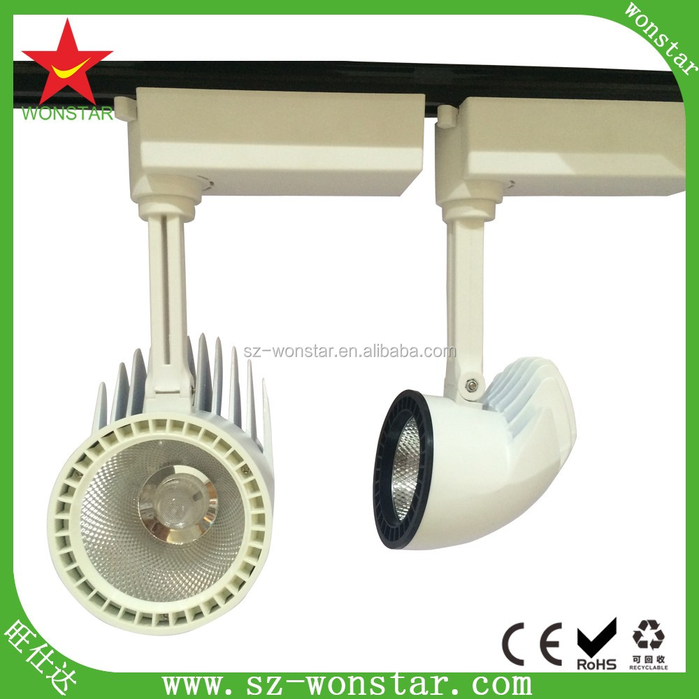 20w zoom len 15-60 degree beam angle gimbal linear led track lighting head for comercial