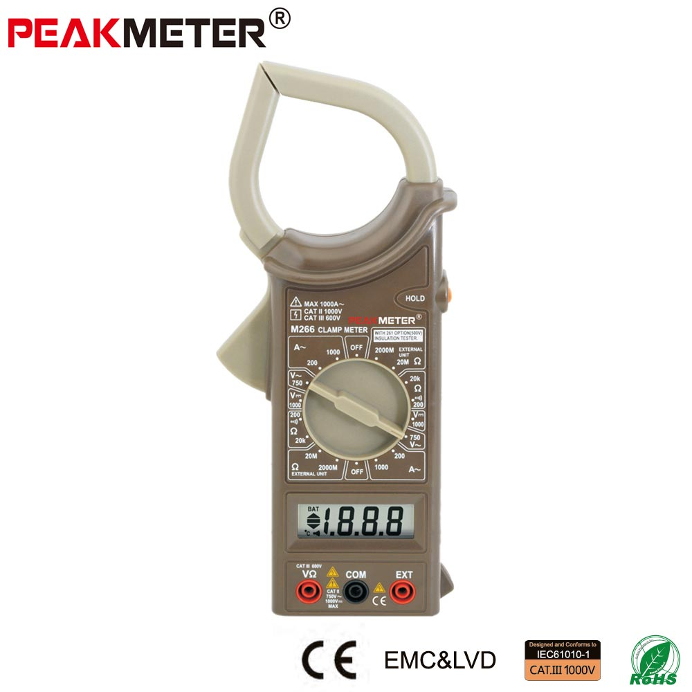 Digital Clamp Meter M266 with Insulation Test