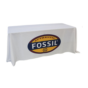 custom cheap trade show 6ft advertising table cloth
