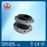 single sphere nbr rubber joint with ms flange