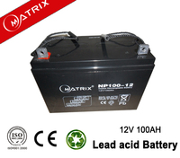 12v 100ah matrix valve regulated lead acid battery