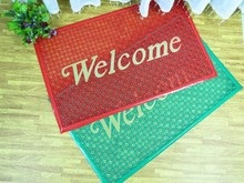 Non-woven Double Color Jacquard Polyester Door Mat With Pvc Back