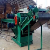 Factory discount cheap machine automatic remove the nails waste wood pallet stump crusher