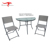 Leisure Furniture Terrace Table and Chairs Stainless Steel Coffee Table Set Bistro Set