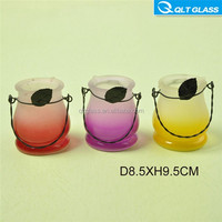 Colored cheap glass candle Jars wide mouth glass jar for candle making