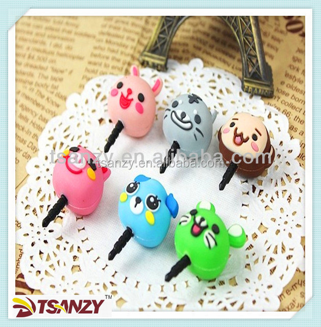 hot selling soft pvc Anti-Dust Plug / 3.5mm Silicone anti-dust Cap for cellphone