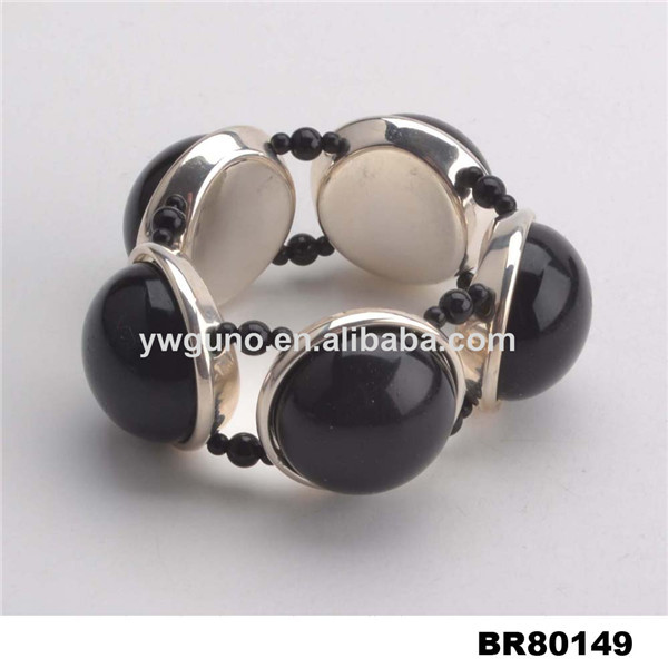 Large Beads Jewelry Making, Large Size Jewelry, Black Bead Bracelet