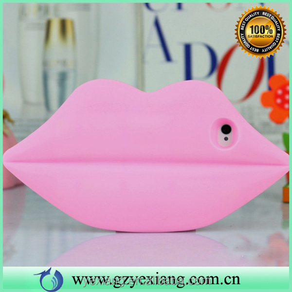 3d soft silicone sexy lips case cover case for iphone 5 silicone back cover