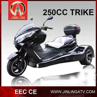 EEC adult Jinling 300cc cvt transmission three wheel motor scooter