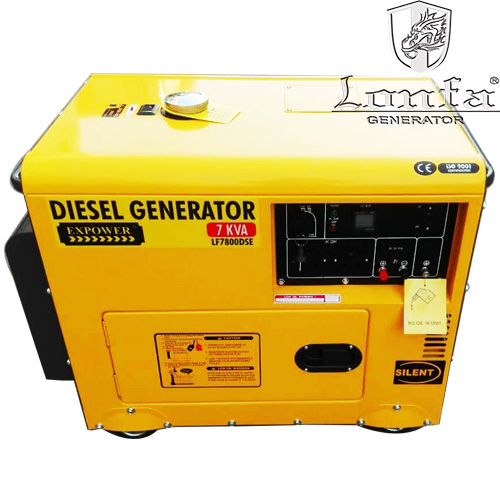 Mini Silent Four Stroke Air Cooled Diesel Engine Power Generator Set