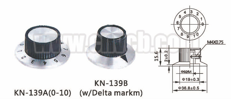 K01 High quality Knob volume BAKELITE KNOB alloy rotary audio volume control aluminum button knob